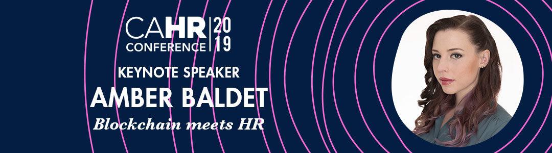 Announcing CAHR19 Keynote Speaker Amber Baldet, Blockchain Expert
